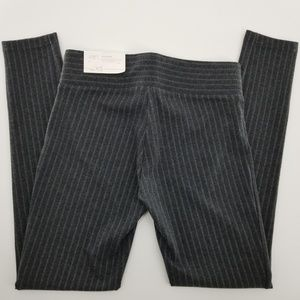 Loft Outlet Charcoal Pinstripe Legging